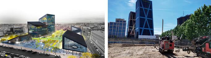 Edificio energia renovable metro madrid Geoter